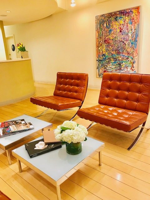 The waiting room of Advanat Dental Group, a dentist in Emeryville, CA